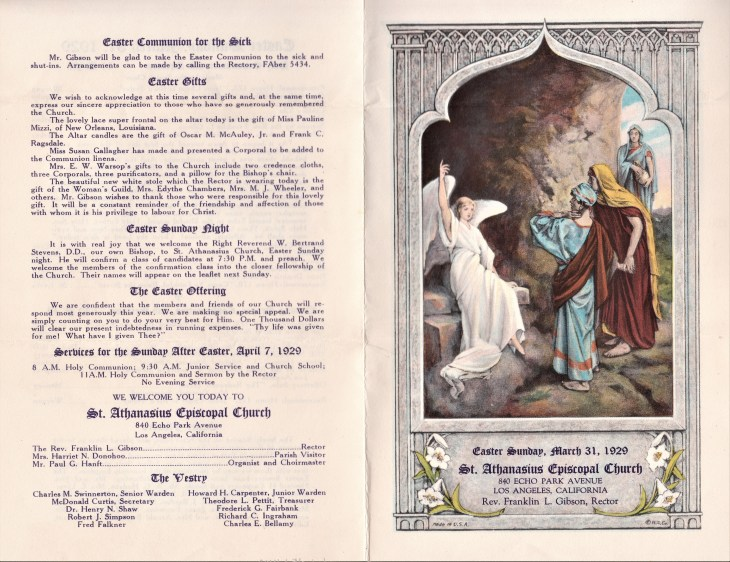 St. Athanasius Easter program covers 31Mar29