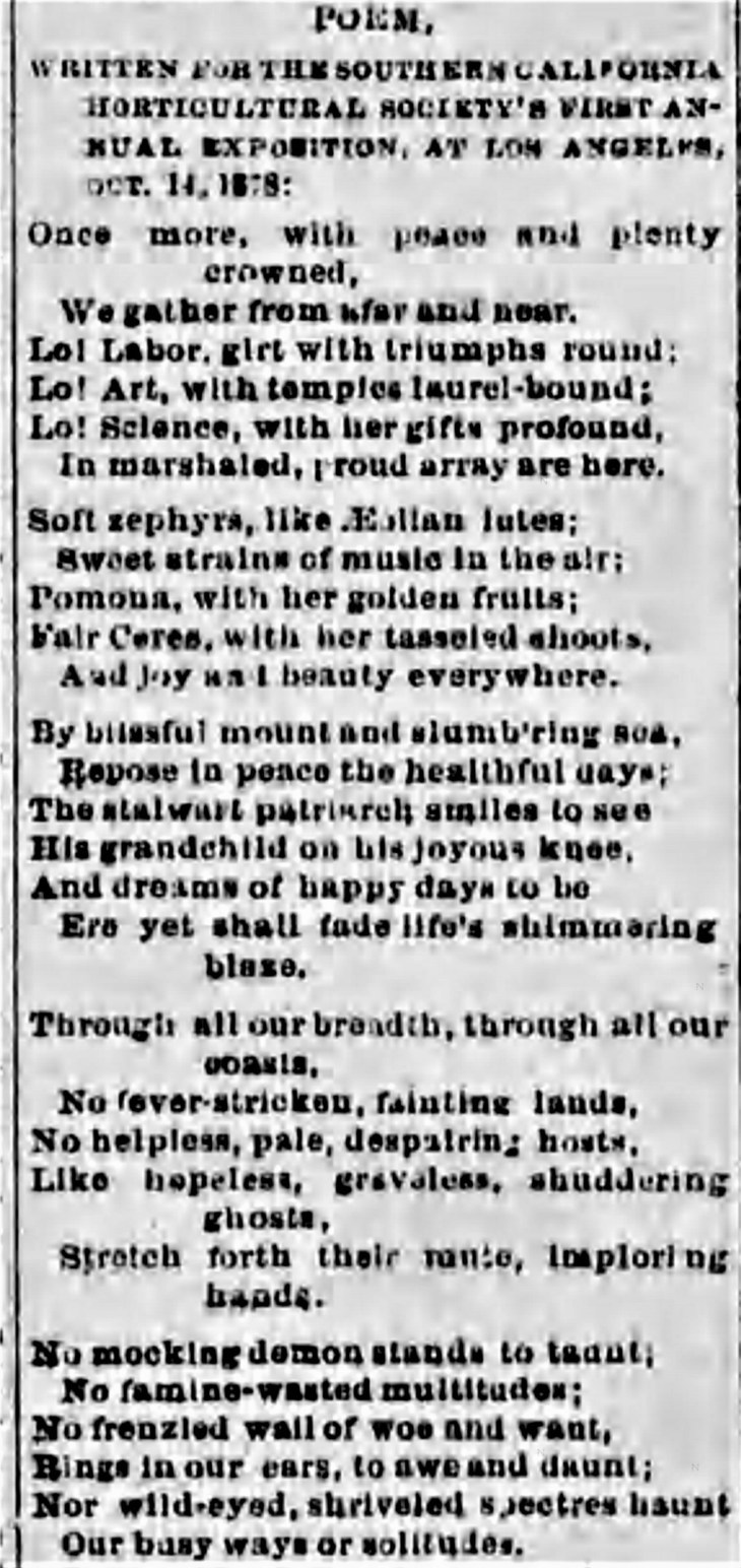 Horticltural Pavillion poem LA_Herald_Oct_15__1878_