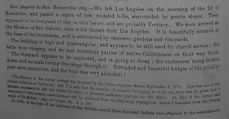 Mission San Gabriel description 1853