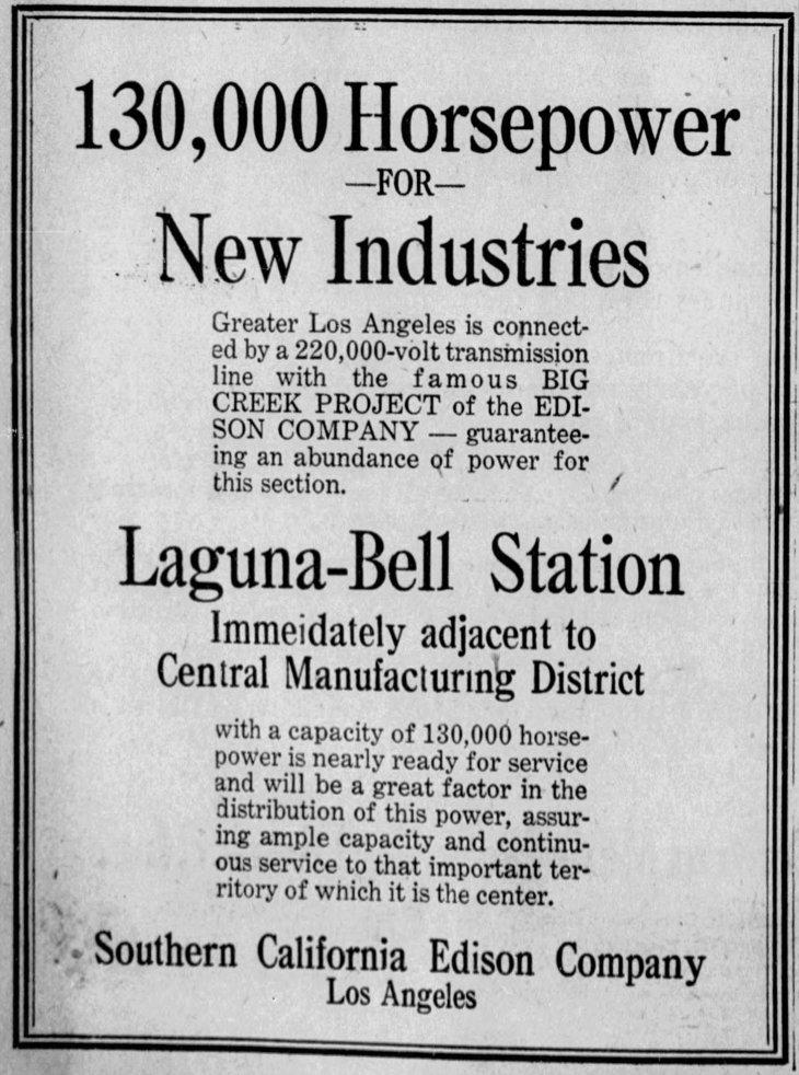 SCE Laguna Bell Station LA_Times_Jul_15__1923_