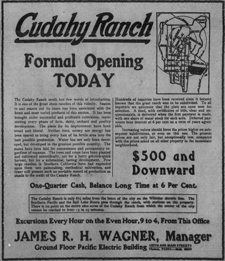 Cudahy Ranch sale ad LA_Times_Mar_12__1908_