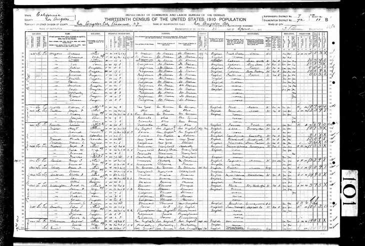 Williamson 1910 census LA