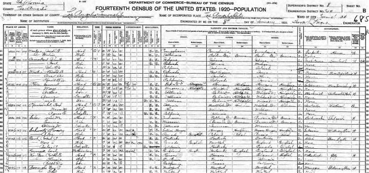 Henry 1920 LA census