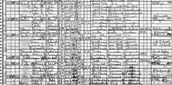 HG Otis 1900 census