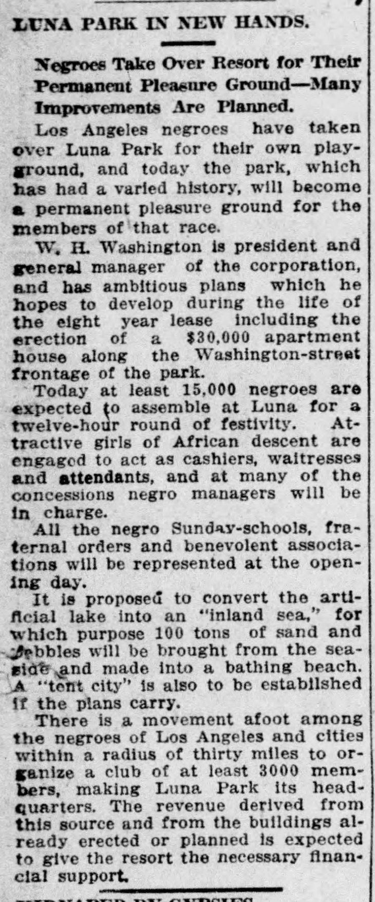Luna Park Negro Resort Times_Sep_21__1912_