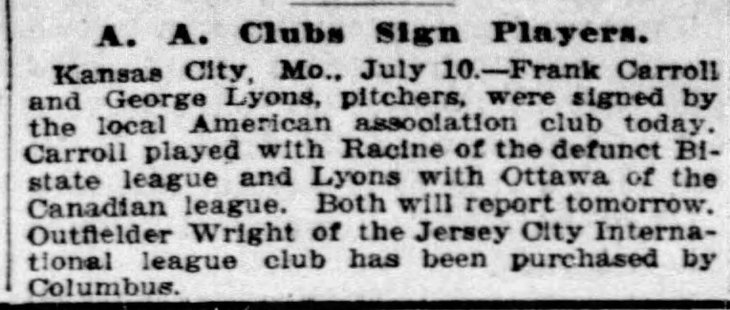 lyons signed to team chicago_tribune_jul_11__1915_