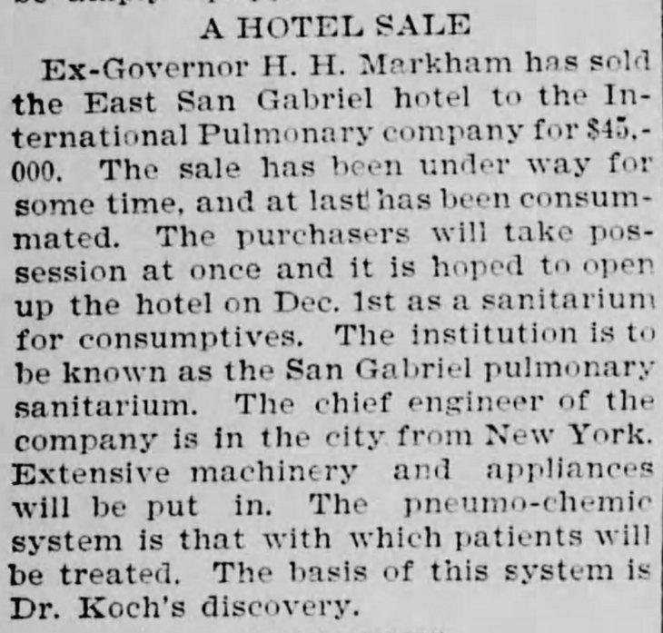 markham sale to sanatorium herald_nov_19__1897_