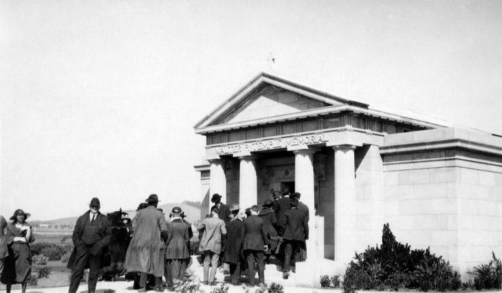 Mourners Entering Mausoleum John H Temple Funeral 99.5.32.690