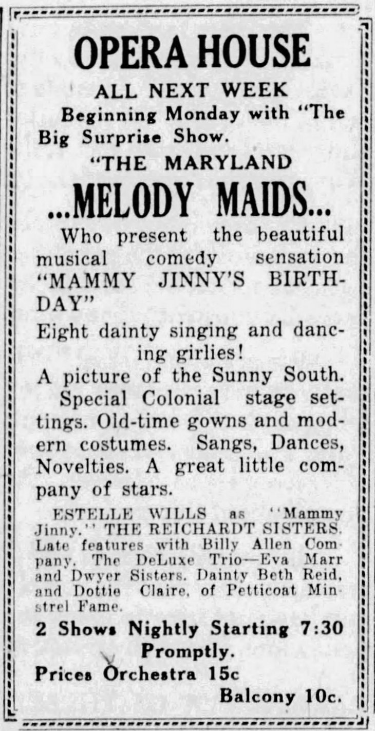 Estelle as Mammy Jinny The [Hanover PA]_Evening_Sun_Oct_7__1916_