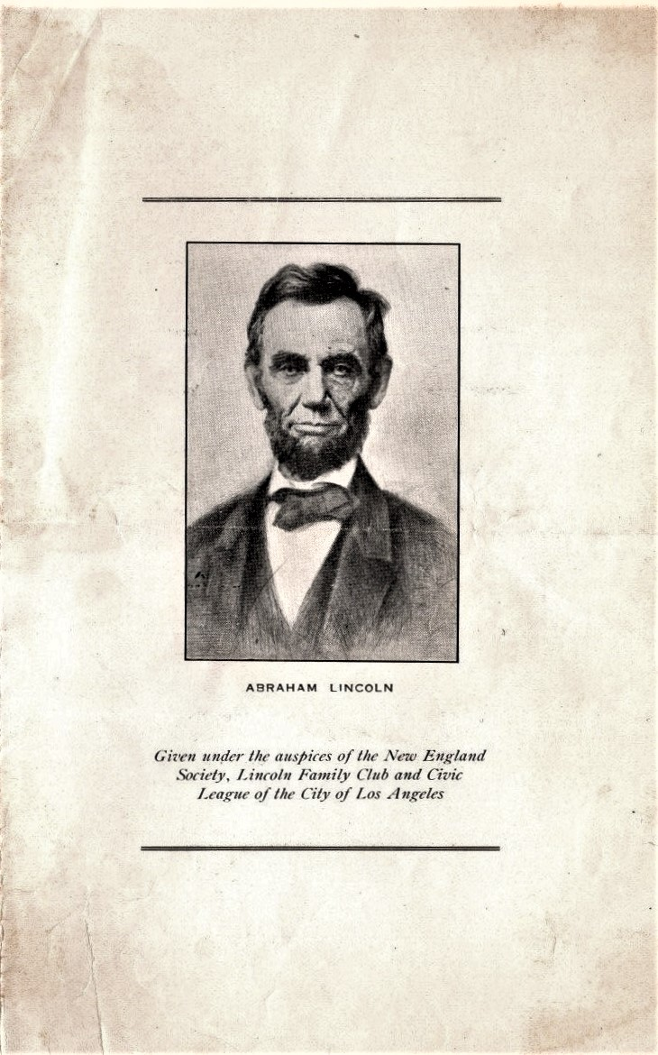 Lincoln Centenary program p3