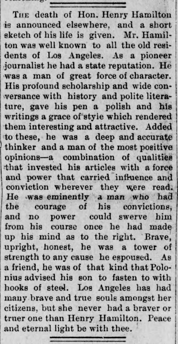 Editorial Obit Los_Angeles_Herald_Tue__Mar_17__1891_