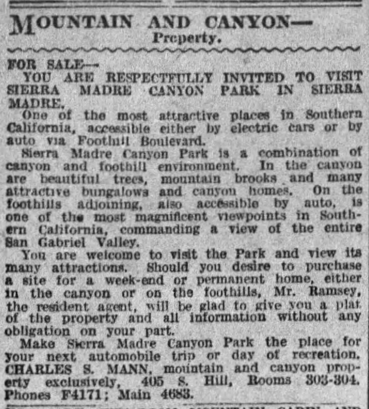 Canyon Park Sierra Madre The_Los_Angeles_Times_Sun__Feb_20__1916_