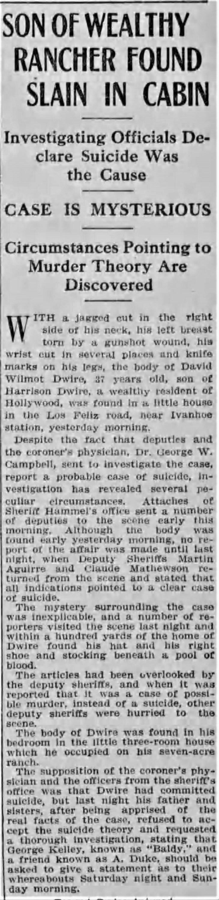 Dwire found dead Los_Angeles_Herald_Mon__Mar_21__1910_