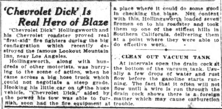 Lookout Mountain Inn Chevrolet Dick San_Francisco_Chronicle_Sun__Nov_17__1918_
