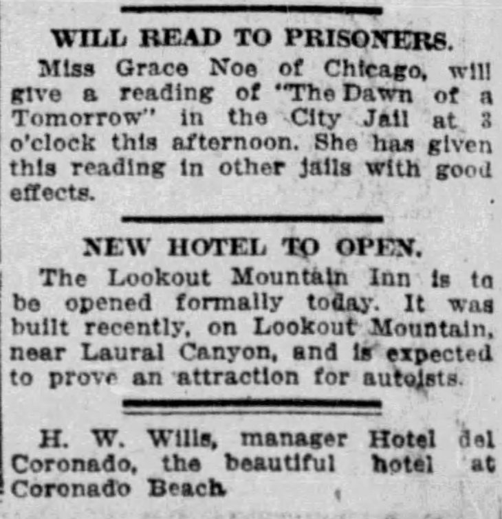 Lookout Mountain Inn opening The_Los_Angeles_Times_Sun__Feb_11__1912_