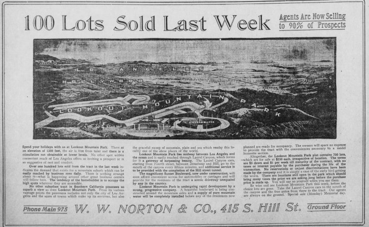 Lookout Mountain Park ad and image Los_Angeles_Herald_Sun__May_30__1909_