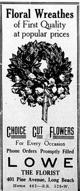 Lowe the Florist Ad