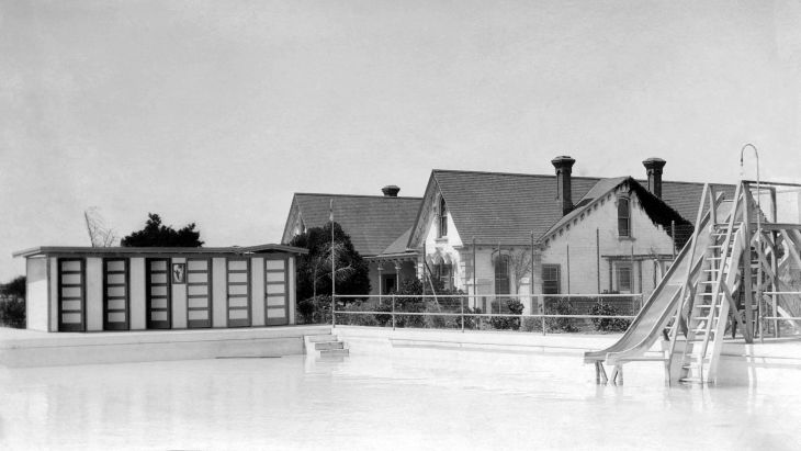 Homestead Reservoir And Pool With Workman House In Background 20
