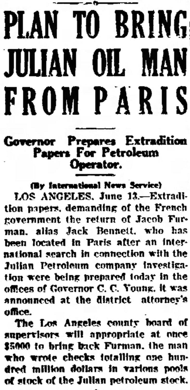 Jack Bennett extradition Press_Courier_Mon__Jun_13__1927_