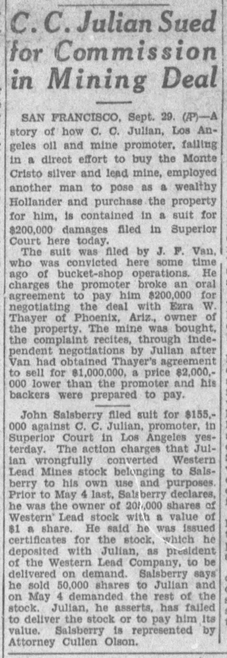 Julian sued by Van and Salsberry The_Los_Angeles_Times_Thu__Sep_30__1926_