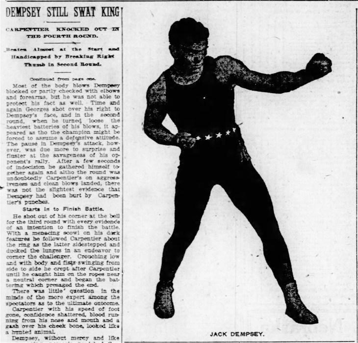 Dempsey Carpentier Lincoln Nebraska_State_Journal_Sun__Jul_3__1921_