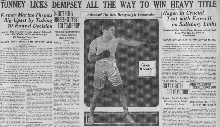 Dempsey Tunney Binghamton NY Press_and_Sun_Bulletin_Fri__Sep_24__1926_