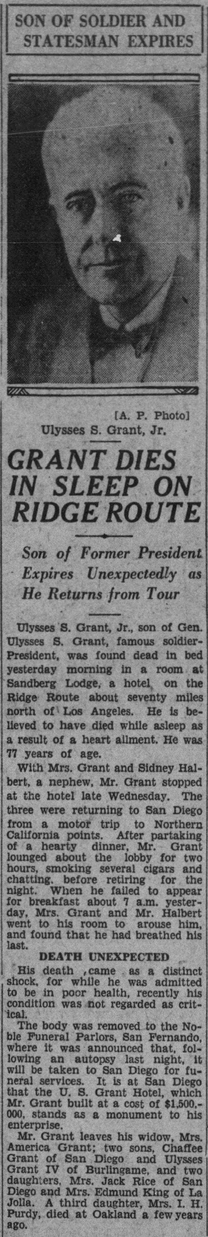 US Grant Jr death The_Los_Angeles_Times_Fri__Sep_27__1929_