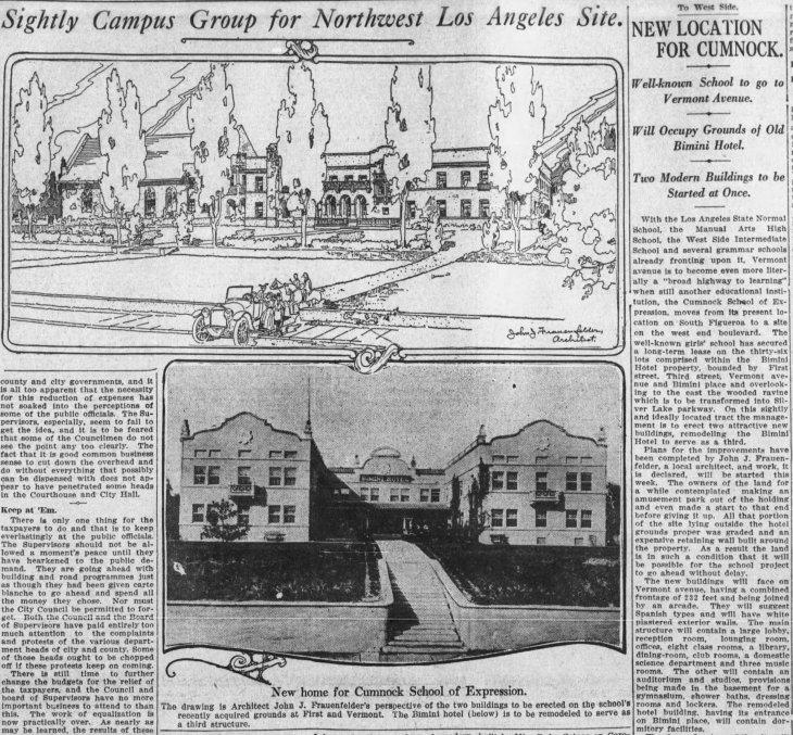 Bimini Hotel as Cumnock School of Expression The_Los_Angeles_Times_Sun__Jul_23__1916_