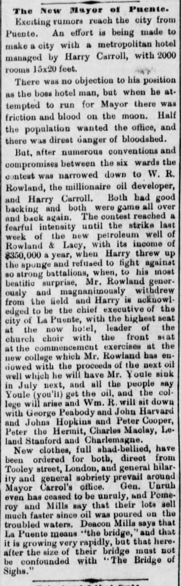 Mayor of La Puente Los_Angeles_Herald_Wed__May_19__1886_