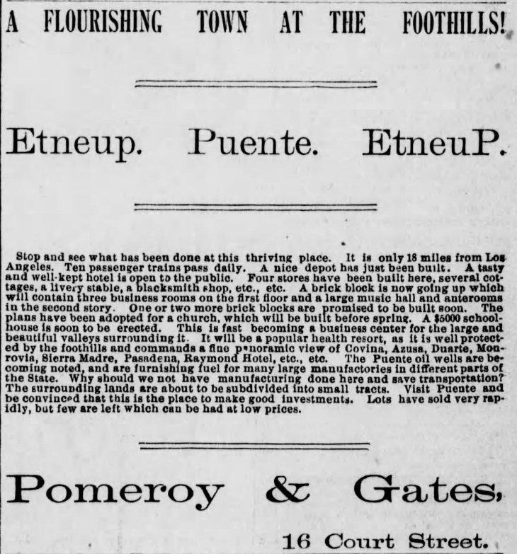 Puente Etneup ad Los_Angeles_Herald_Sun__Jan_16__1887_