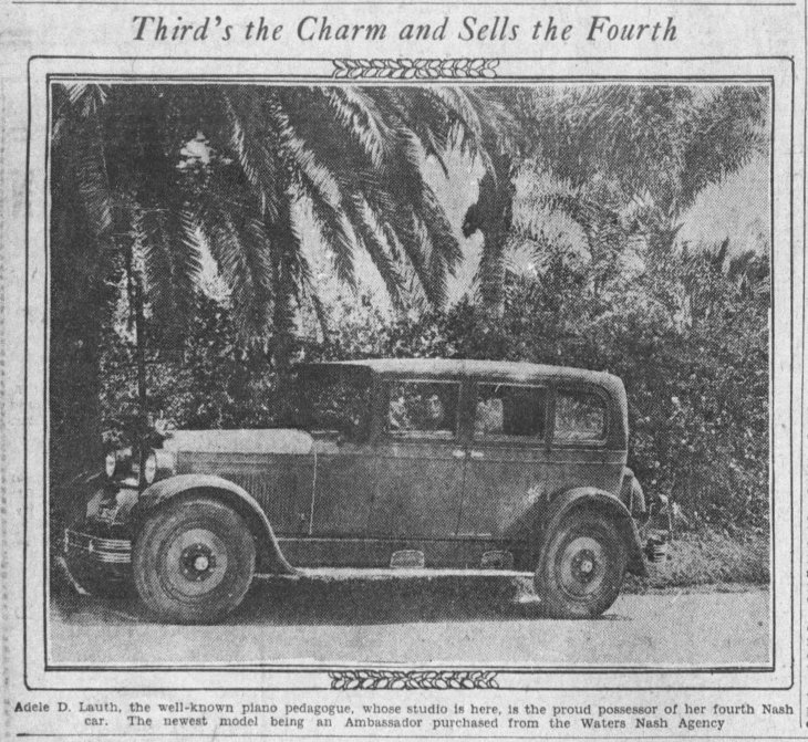 Adele D Lauth car photo The_Los_Angeles_Times_Sun__Apr_10__1927_