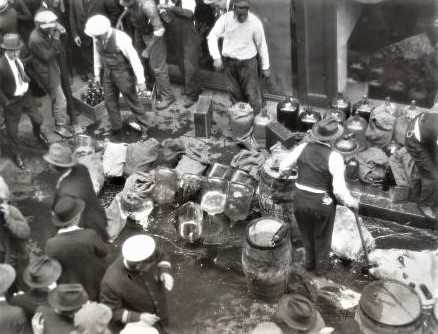 Liquor bust April 1923