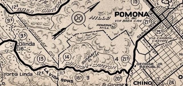 Auto Club strip map detail