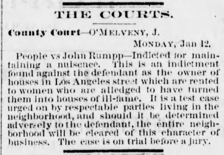 John Rumpp trial houses of ill fame Los_Angeles_Herald_Tue__Jan_13__1874_