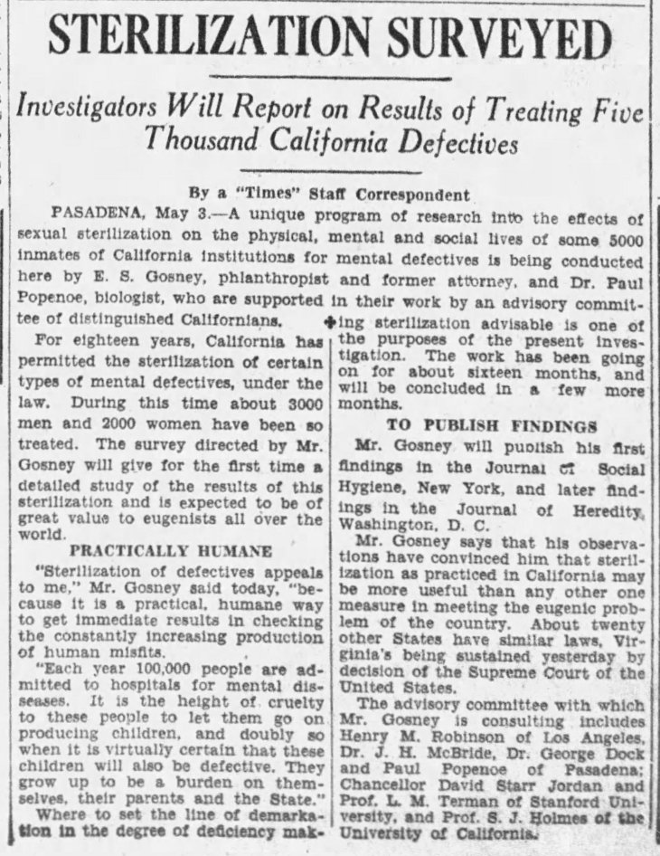 Sterilization Surveyed The_Los_Angeles_Times_Wed__May_4__1927_
