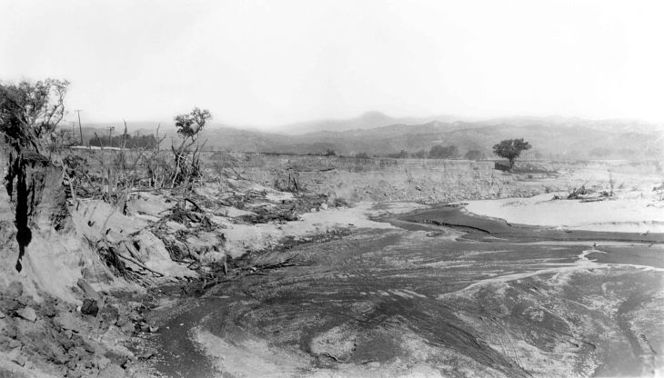 A Snapshot Of Flood Damaged Area From St Francis Dam Disaster 20