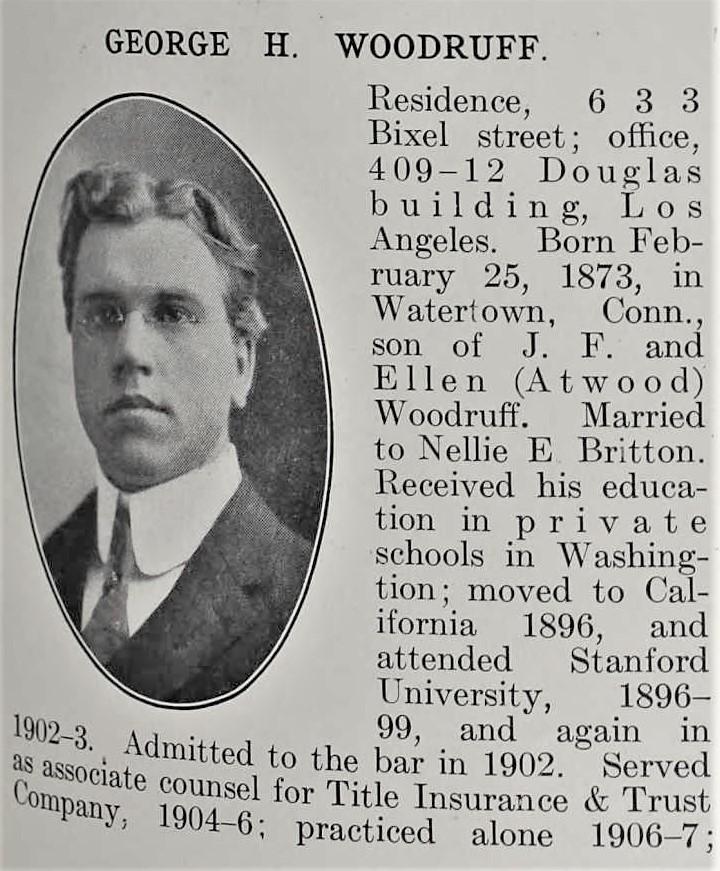 Woodruff Bench and Bar 1909