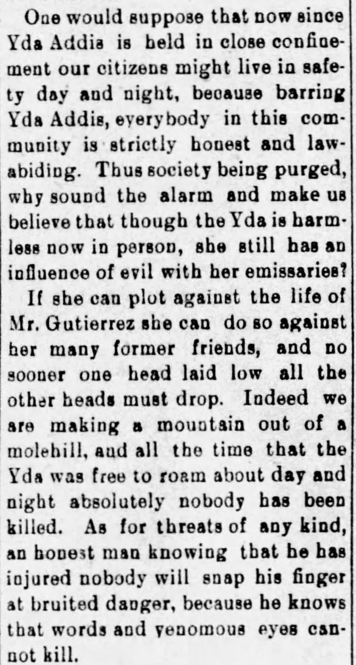 Gutierrez Addis letters detail Daily_Independent_Mon__Jul_17__1899_