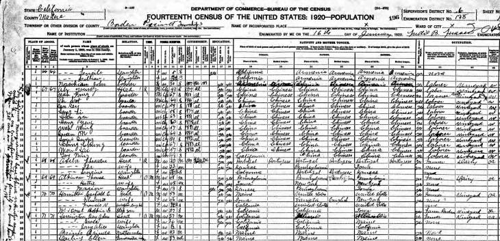 Herrington 1920 census Madera