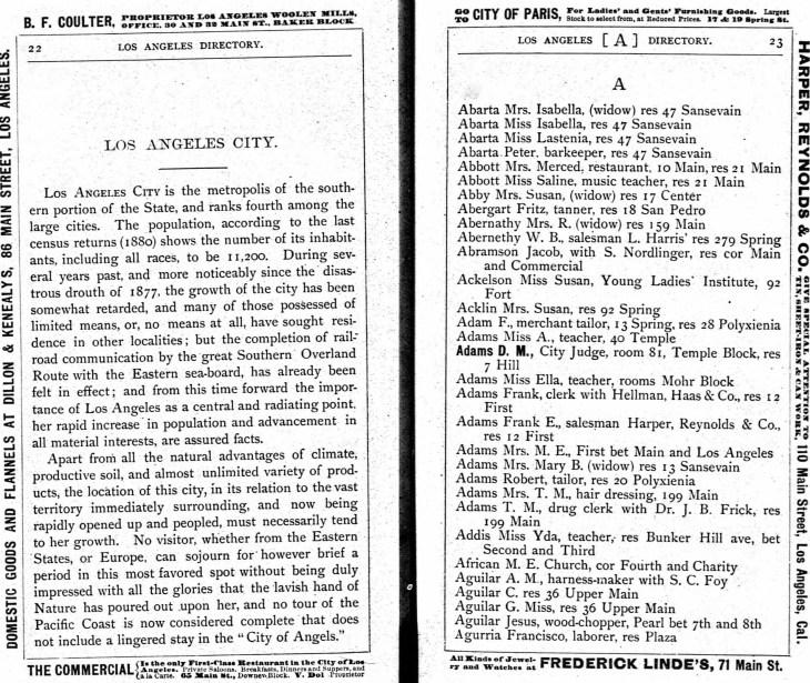 Yda 1882 LA directory