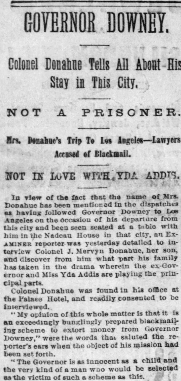 Yda Donahue interview detail The_San_Francisco_Examiner_Thu__Apr_26__1888_