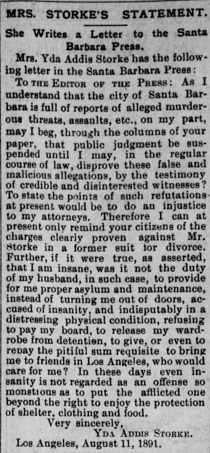 Yda letter divorce Los_Angeles_Herald_Fri__Aug_14__1891_