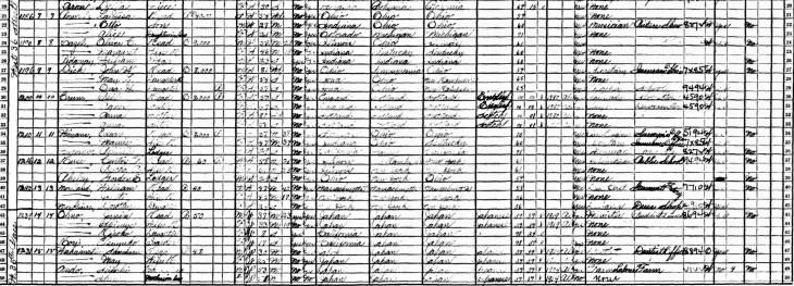 Rev Ohno 1930 census