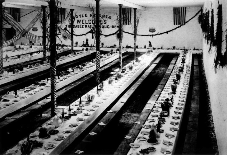 0819187 Dining Hall For Party Welcoming Cable Railway To Boyle Heights 2000.217.1.28