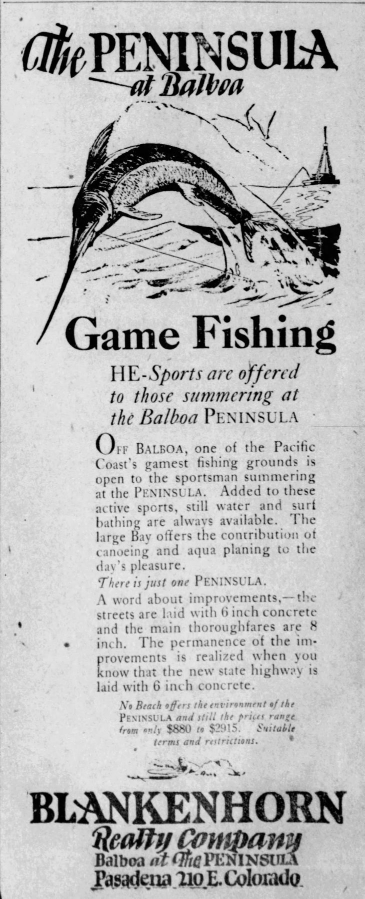 Balboa Peninsula ad The_Bulletin_Sun__Aug_10__1924_