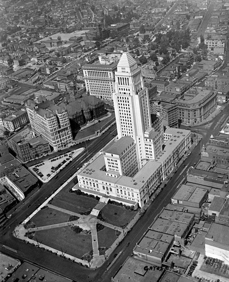 Aerial Photo Los Angeles City Hall Area 2010.68.1.1
