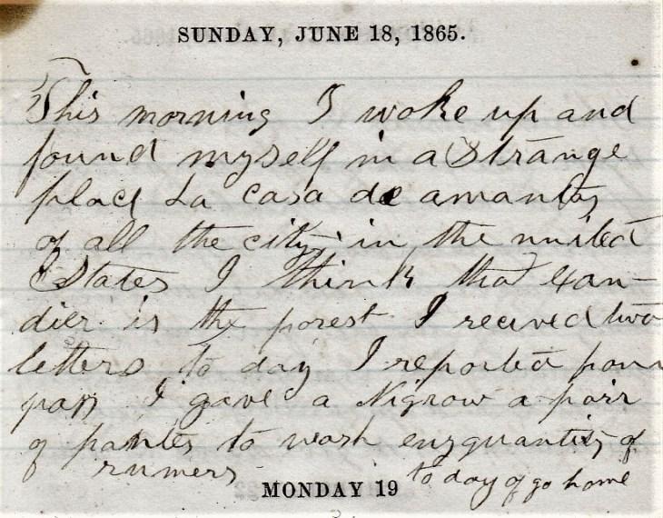 Jenkins Diary June 15-20