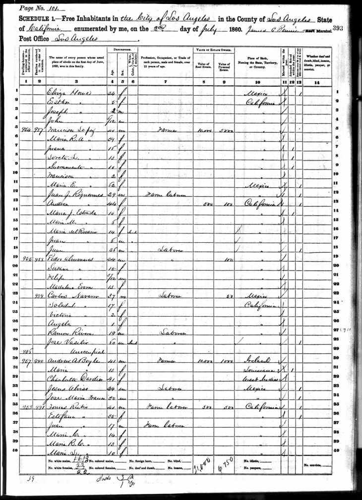 Boyle 1860 census