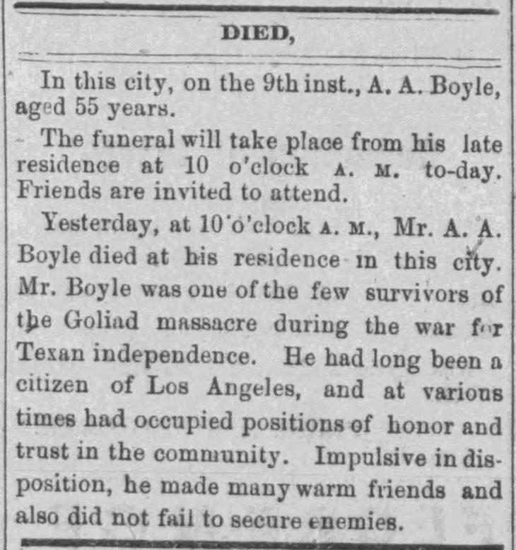 Boyle obit Los_Angeles_Daily_News_Fri__Feb_10__1871_