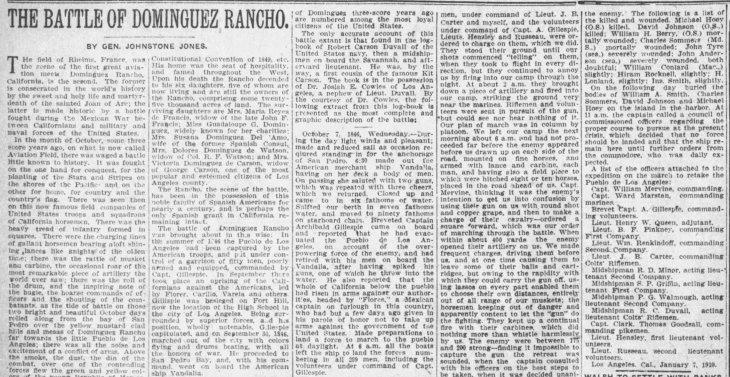 Johnstone Jones Battle of Dominguez Rancho The_Los_Angeles_Times_Sun__Jan_9__1910_
